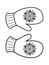 Mittens Coloring Pages Printable Mycoloring sketch template