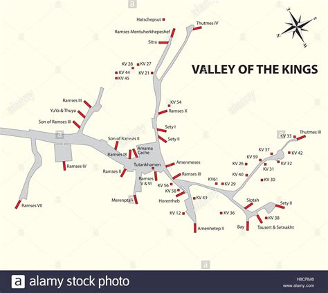 Valley Of The Kings Map Pictures To Pin On Pinterest