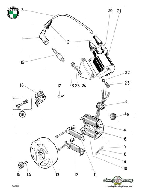 Cat Eye Wiring Diagram 50cc by Puch Moped E50 6 Wire Magneto Assembly Complete
