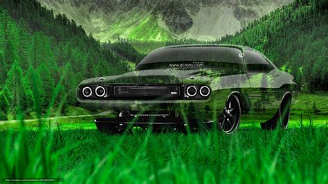 Download Wallpaper Tony Kokhan, Dodge, Challenger, Rs Free