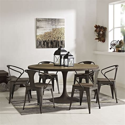 drive   dining table wood top brown dcg stores