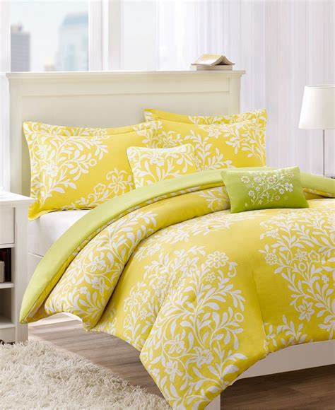 jla harmony 4 piece twin comforter set mimosa yellow