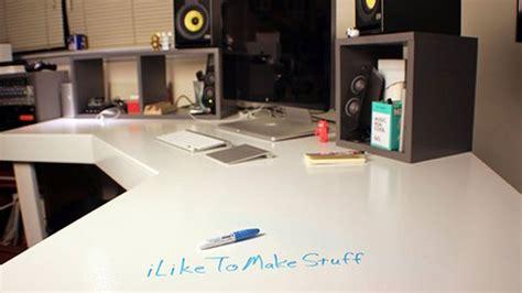 Ikea Desk Hutch Whiteboard by The Diy Erase Workspace Lifehacker Australia