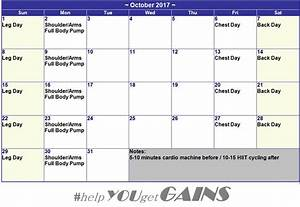 Helpyougetgains - Bodybuilding Supplements And Training  My October 2017 Workout Plan