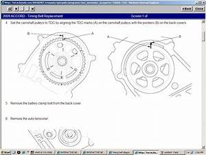 Timing Belt Diagram Honda Accord V6 3 5 2008