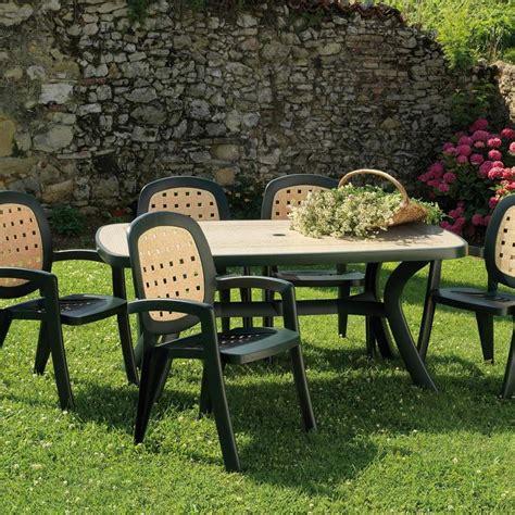 tavolo in plastica da giardino tavolo ovale da giardino in plastica toscana 165 nardi
