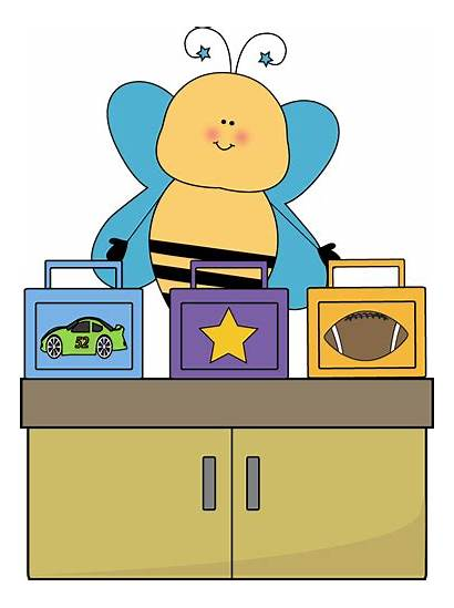 Lunch Box Clip Classroom Bee Monitor Clipart