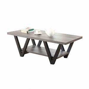 coaster coffee table in antique gray and black 705398 With black and grey coffee table