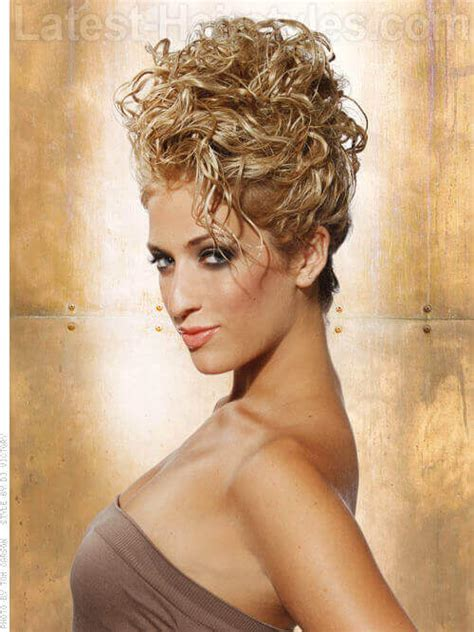 Curly Updo Hairstyles by 36 Curly Updos For Curly Hair See These Ideas For 2018