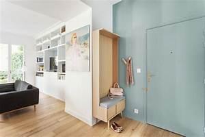 meuble d39entree assise et rangement With meuble rangement entree couloir 2 dressing amenagement placard et meuble de rangement
