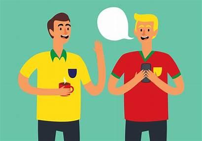 Talking Friends Vector Illustration Football Chat Vecteezy