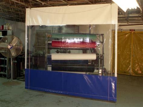 Industrial Roll-up Vinyl Curtains