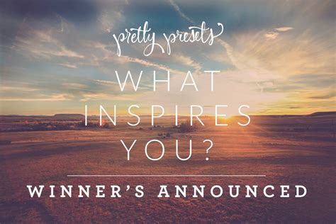 What Inspires You? Photography Challenge Winners Announced ...