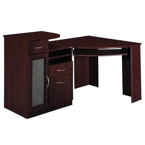 cherry corner computer desk corner desk office cherry computer desk bush furniture