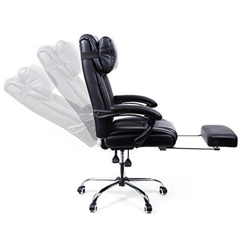 songmics fauteuil de bureau chaise pour ordinateur avec repos pieds pliable dossier r 233 glable