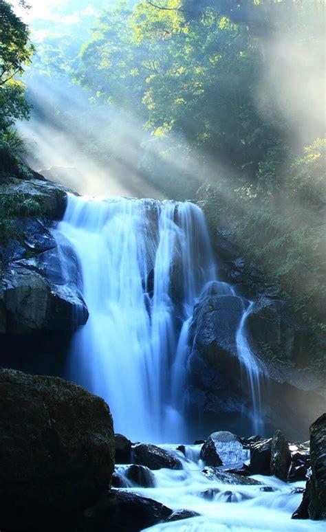 nature fantasy waterfall  sunlight iphone