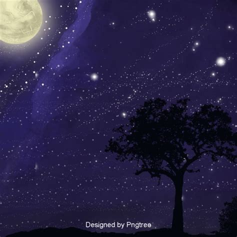 blue aesthetic moon background design starry