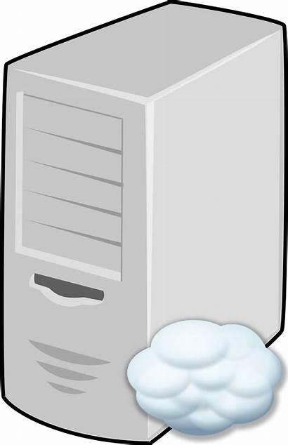 Server Cloud Clipart Powerpoint Clip Linux Penguin