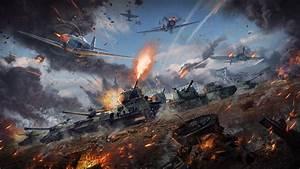 Wallpaper War Thunder, Battle, Tanks, Planes, 8K, Games, #5643