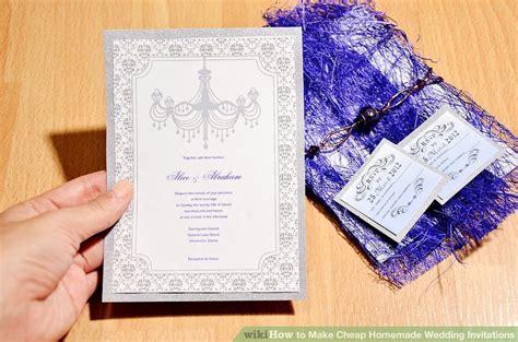 ways   cheap homemade wedding invitations wikihow