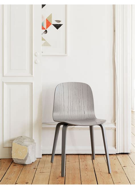 chaise muuto visu chair wood base chair muuto