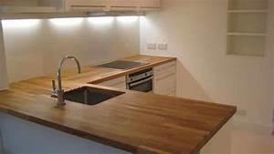 Cuisine Plan De Travail Bois : traiter un plan de travail de cuisine en bois brute ~ Dailycaller-alerts.com Idées de Décoration