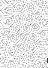 Cube Coloring Pages Doodle Colouring Pattern Drawing Printables sketch template
