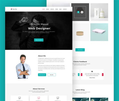 personal portfolio template free freepsd cc free psd files and photoshop resources and more