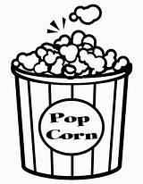 Popcorn Coloring Corn Pages Clipart Pop Printable Bowl Box Template Sheets Outline Preschool Kernel Clip Cliparts Edit Popular Worksheets sketch template