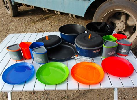 camping cookware plates dishes camper bugaboo gsi memories pack served