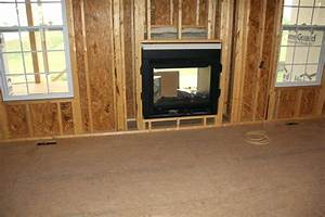 2 Sided Fireplace Inside And Outside Dwelling Exterior