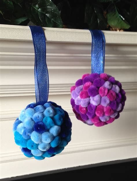 pom pom ball ornaments art projects for kids