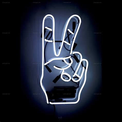 peace neon sign oliver gal