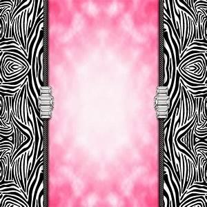 Pink and Zebra Print Border | Free Wallpaper