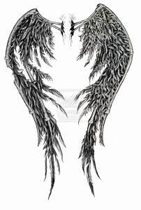 Fallen Angel Wings Tattoo | fallen angel wings edited by ...