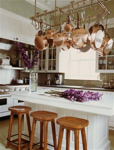 Pot Rack over Kitchen Island   Traditional   kitchen