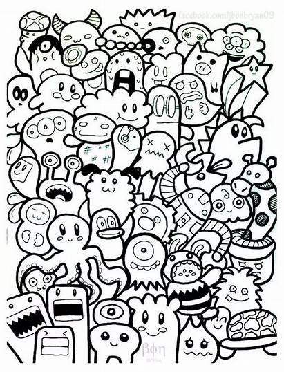 Doodle Coloring Pages Doodling Doodles Beginners Adults