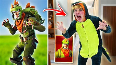 fortnite skins  real life challenge fortnite