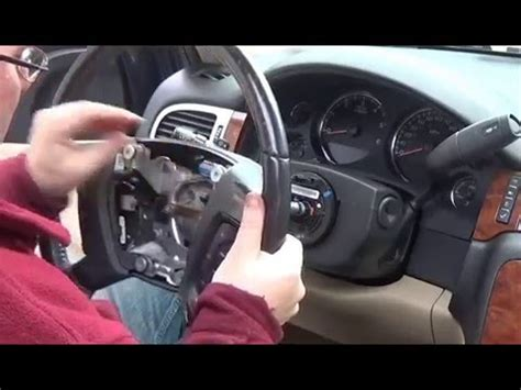 diy replacing airbag  steering wheel  chevy suburban