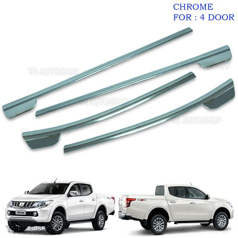 Window Sill Liner by Chrome 4dr Line Window Sill Cover Trim For Mitsubishi L200