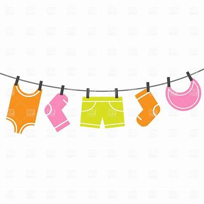 Clothes Clipart Clip Drying Laundry Clothing Vector