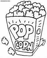 Popcorn Coloring Printable Pages Box Drawing Pop Corn Template Healthiest Snack Kernel Foer Bildresultat Sheet Turtle Se Sketch Colored Drawings sketch template