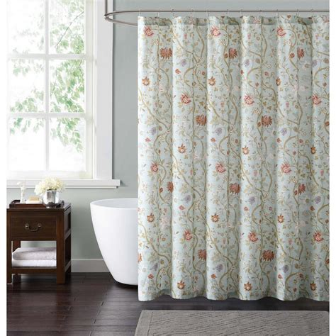 blue and shower curtain blue and blush shower curtain shower curtain in gray