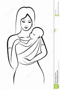 and child in sling stock image image 17311151