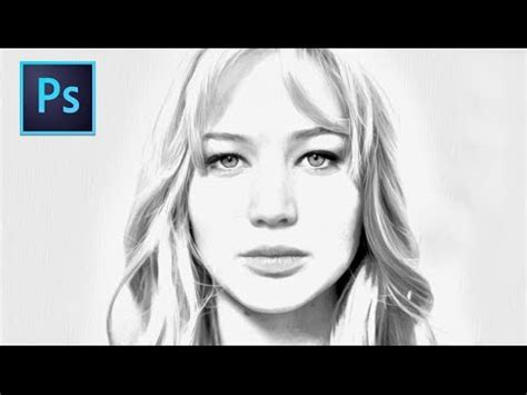 adobe photoshop cs drawing effect tutorial youtube
