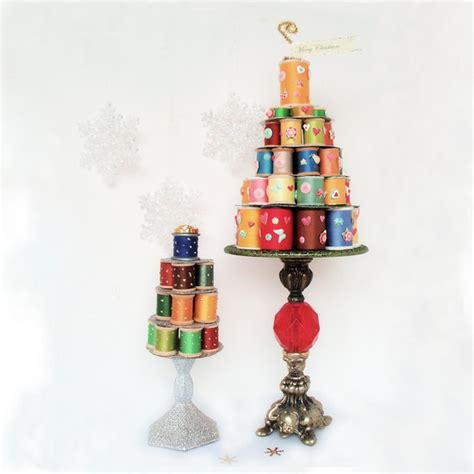 whimsical thread spool christmas trees recycled crafts