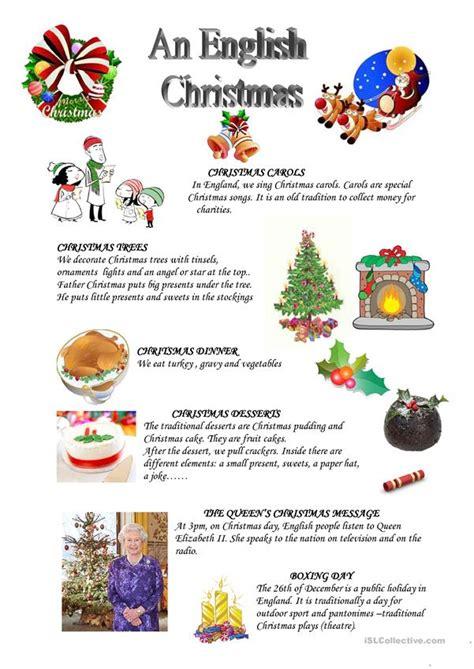 english christmas worksheet  esl printable