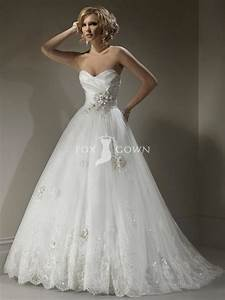 strapless lace wedding dresses with flowers ipunya With flower lace wedding dress