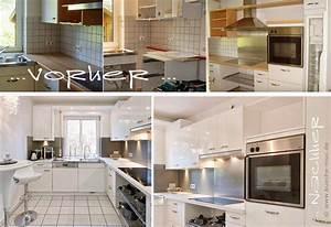 Küche Renovieren Fronten : kueche neue fronten in weiss zu einer hellen granitarbeitsplatte ~ Pilothousefishingboats.com Haus und Dekorationen