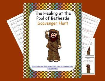 bible story scavenger hunt healing   pool